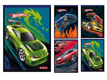 "Notizblock A6 karriert, Motiv ""Hot Wheels III"""