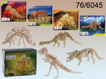 Holzpuzzle 3D DINOSAURIER-Skelett